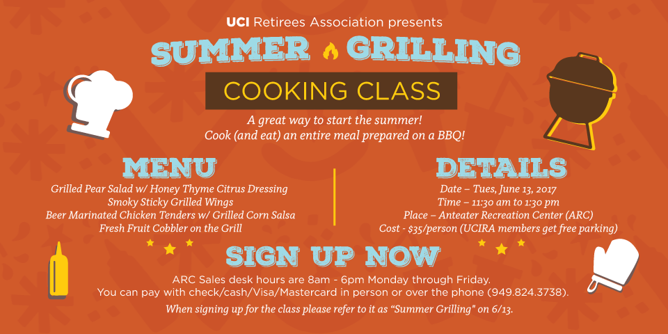 "June 13 2017 - BBQ Cooking Class @ The Arc (refer ""Summer Grilling"")"