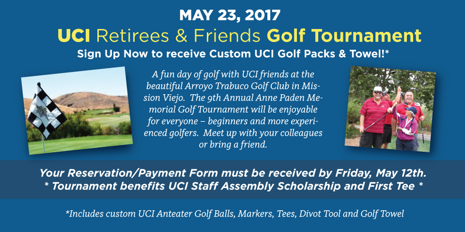 May 23, 2017 - Golf Tournament - REGISTER NOW!